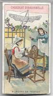 Ancien Chromo Les Points De Couture N° 8 POINT DE FESTON Chocolat D'Aiguebelle - Cromos