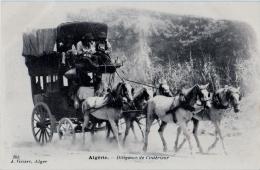 ALGERIE - Diligence De L'intérieur - TRANSPORT, ATTELAGE, CHEVAL - CPA TBon Etat (voir Scan) - Algeria