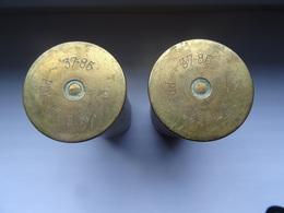 Lot De 2 Douilles Obus 14-18 (inertes) - 1914-18
