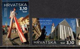 CROATIA , 2018, MNH, TOURISM, VARAZDIN, ST. NICHOLAS CTAHEDRAL,2v - Holidays & Tourism