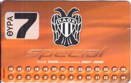 GREECE - PAOK FC, Season Ticket 2007-2008, Unused - Sport