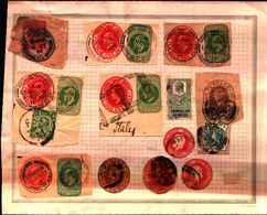 72473) LOTT  RITAGLI I INTERI POSTALI INGLESI USATI - Interi Postali