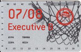 GREECE - Olympiacos BC, Executive Season Ticket 2007-2008, Unused - Sport