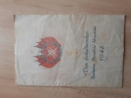 DAN FISKULTURNIKA REPUBLIKE HRVATSKE 1948, GYMNASTICS ATHLETICS - Gymnastique