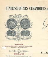 Facture Lettre 1914 / 88 DEYVILLERS / G. BASTIEN / Céramiques De DEYVILLERS Et AYDOILLES / Tuiles, Briques - 1900 – 1949