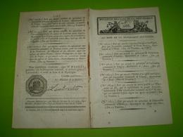 Lois An VII:proclamation De Brevets Dont Harpe Cousineau,Japy Horlogeie,Robert Fantascope,lanterne Magique De Kircher... - Décrets & Lois