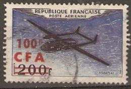 Reunion 1954 SG  366  Overprinted C F A  Fine Used - Reunion Island (1852-1975)