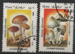 Afghanistan 1985 MiNr.:1414, 1415 Pilze Gestempelt; Mushrooms Scott 1168/69 Used Champignons Yt:1279/80 Obliterées - Afghanistan