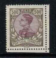 Portugal // 1910 //  Emmanuel II 500r Olive Et Violet Brun Timbre Neuf* Avec Charnière - 1910-... République
