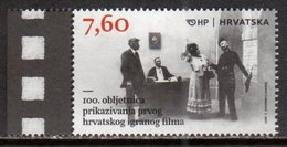 CROATIA , 2017, MNH, CINEMA, ART, 100th ANNIVERSARY OF THE PREMIERE OF THE FIRST CROATIAN MOTION PICTURE, 1v - Cinema