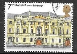 1975 Architecture 7p, Charlotte Square, Edinburgh, Used - Used Stamps