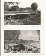 2 Photos  VAR   BRIGNOLES  Construction Du Pont Sur Le CARAMY - Brignoles