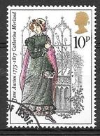 1975 10p Jane Austin, Used - Used Stamps
