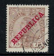 Portugal // 1895-1905 //  Emmanuel II 75r Bistre Oblitéré - 1892-1898 : D.Carlos I