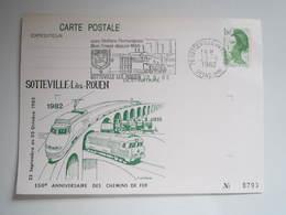 Entier Postal - SOTTEVILLE LES ROUEN - 150e Anniversaire Des Chemins De Fer 1982 - Sotteville Les Rouen