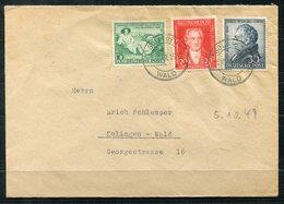 4218 - ALL.BES: - Mi.Nr. 108-110 Auf Brief - Zona Anglo-Americana