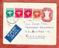U Wappen + ZF, Kottayam Nach Duesseldorf 1957 (58320) - Briefe