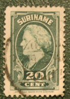Koningin Wilhelminav 20 Ct NVPH 231 1945 Used / Gestempeld SURINAME / SURINAM - Surinam ... - 1975