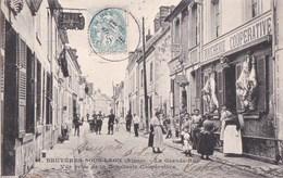02 BRUYERES Sous LAON  Animation Commerces Vente De COKE De L' USINE à GAZ De LAON Près De La  BOUCHERIE - France