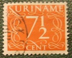 7 1/2 Ct Cijfer Krimpen  NVPH 256 Mi 290 1948-1951 Used / Gestempeld  SURINAME / SURINAM - Surinam ... - 1975