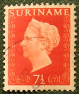 Koningin Wilhelmina 7 1/2 Cent NVPH Nr: 259 1948 Used / Gestempeld SURINAME / SURINAM - Surinam ... - 1975