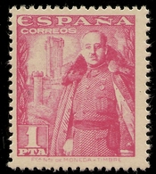 ESPAÑA Edifil 1032** Mnh  1 Peseta Rosa  La Mota   1948/1954   NL026 - 1931-50 Neufs