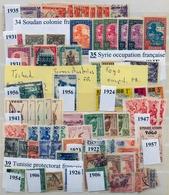COLONIAS FRANCESAS , LOTE DE SELLOS , SUDAN , SIRIA , TOGO , TÚNEZ - France (former Colonies & Protectorates)