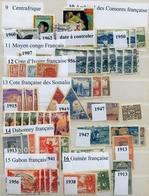 COLONIAS FRANCESAS , LOTE DE SELLOS , COMORES , MOYEN CONGO , COSTA DE MARFIL , DAHOMEY , GUINEA - France (former Colonies & Protectorates)