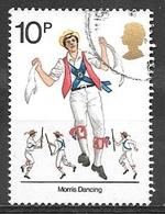 1976 10p Morris Dancing, Used - Used Stamps