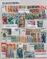 COLONIAS FRANCESAS , LOTE DE SELLOS , WURTTENBERG , ANDORRA , CAMERÚN - France (former Colonies & Protectorates)