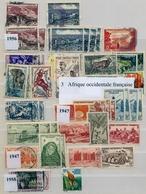 COLONIAS FRANCESAS , LOTE DE SELLOS , AFRICA ECUATORIAL Y OCCIDENTAL FRANCESA - France (former Colonies & Protectorates)