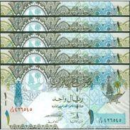 TWN - QATAR 28a - 1 Riyal 2008 DEALERS LOT X 5 UNC - Qatar