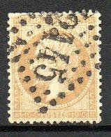 FRANCE - 1862 - Second Empire - Napoléon III - N° 21 - 10 C. Bistre (Oblitération : Losange Gros Chiffres) - 1862 Napoleon III
