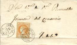 Ø 52 En Envuelta De Cervera A Tudela, El 24 JUL 1860. - 1850-68 Reino: Isabel II