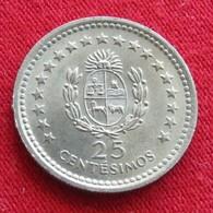 Uruguay 25 Centesimos 1960 KM# 40  Uruguai - Uruguay