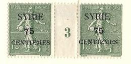 Millésime Semeuse Syrie Yvert 108 Maury 113 - Syrie (1919-1945)
