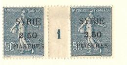 Millésime Semeuse Syrie Yvert 121 Maury 118 - Syrie (1919-1945)