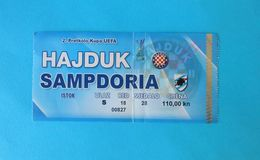 HAJDUK V UC SAMPDORIA - 2007. UEFA CUP Qual. Football Match Ticket Soccer Billet Fussball Calcio Biglietto Italy Italia - Match Tickets