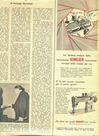 (pagine-pages)PUBBLICITA' SINGER  Epoca1956/335r. - Livres, BD, Revues