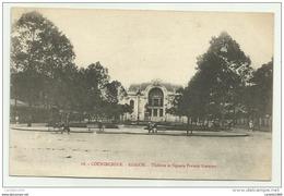 COCHINCHINE SAIGON THEATRE ET SQUARE FRANCIS GARNIER  1912 N.V.F.P. - Vietnam