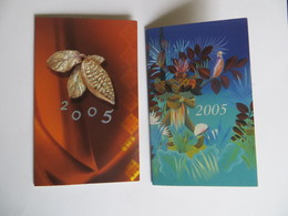 Lot De 2 Calendrier 2005 Fève De Cacao Chocolatier Vaires Sur Marne Et Grenoble - Small : 1991-00