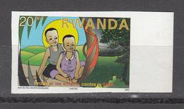 2003 Rwanda Rwandaise Aids Sida Health 20F Value  Imperf Non-Dentele MNH - Autres