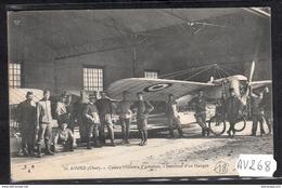 1727 AV268 AK PC CPA AVIATION CAMP D AVOR  INTERIEUR D UN HANGAR  C TTB - Aviatori