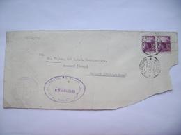Italy Envelope Clipping Napoli Raccom: B 1949 - To Germany Postmark I.R.O. - H.Q. - B.A.O.R. Central Registry - Ohne Zuordnung