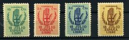 España. Catálogo Edifil  Nº 851/54. Año 1938 - 1931-Aujourd'hui: II. République - ....Juan Carlos I