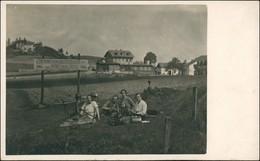 Waltersdorf-Großschönau (Sachsen) Gruppe Eingang Grenzbaude Rübezahl Diele 1932  - Grossschoenau (Sachsen)