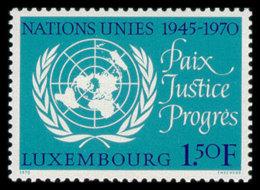Luxembourg, Luxemburg, 1970, United Nations 25th Anniversary, MNH, Michel 813 - Luxembourg