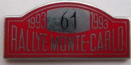RALLYE DE MONTE-CARLO  1993 - Rallye