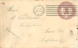 USA Env. B325 UPSS Chicago World's Fair Station > Bonn Germany   1893 - Postal History