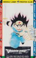 Télécarte Japon / 110-011 - MANGA - DRAGON BALL QUEST - WEEKLY JUMP PIRATES CLUB - ANIME Japan Phonecard - 10755 - Comics
